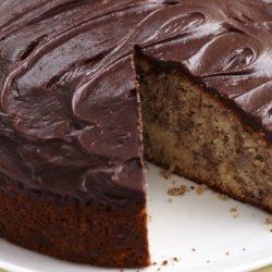 Шоколадный кекс с бананом
