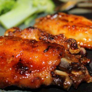 Куриные крылышки в медово соевом соусе в духовке