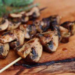 грибы на гриле рецепт шампиньоны