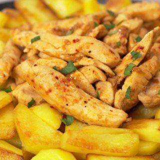 Простой ужин для любого случая - курица с картошкой