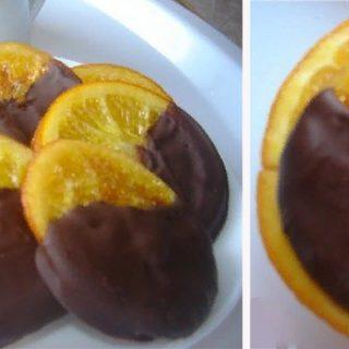 Шоколадно-карамелизированные апельсины